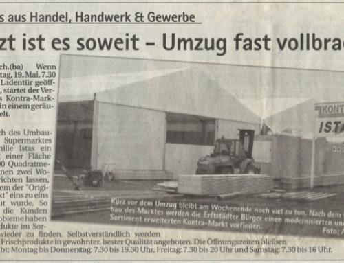 2003 – Umbau und Zelt