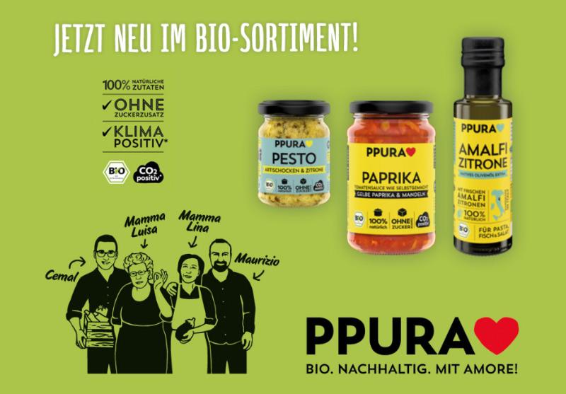 Jetzt neu im Bio-Sortiment: PPURA