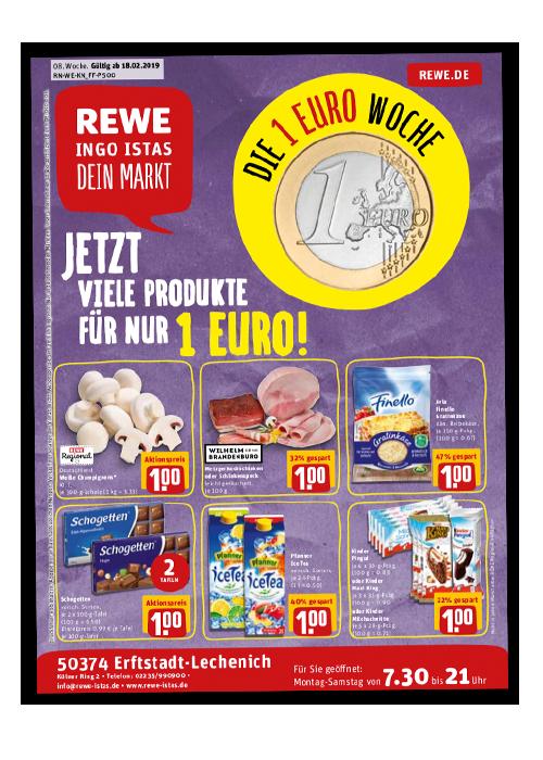 REWE Istas Handzettel Erftstadt-Lechenich KW 08/2019
