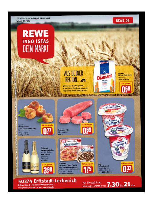 REWE Istas Handzettel Erftstadt-Lechenich KW 29/2018