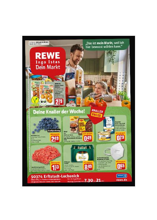 REWE Istas Handzettel Erftstadt-Lechenich KW 31/2021