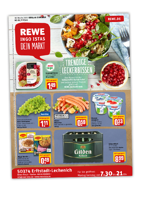 REWE Istas Handzettel Erftstadt-Lechenich KW 38/2018