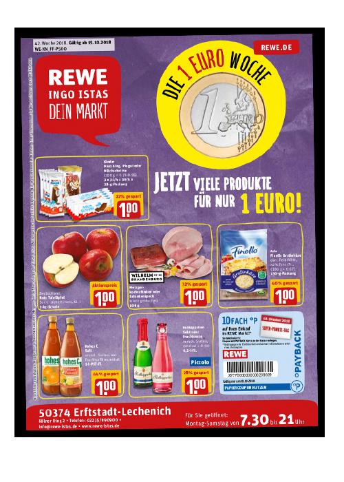 Angebote bei REWE Istas: Kräftig sparen – jede Woche aufs Neue!