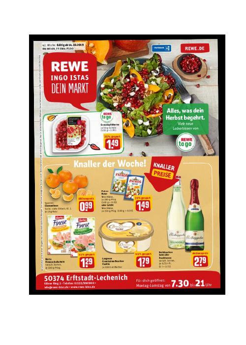 REWE Istas Handzettel Erftstadt-Lechenich KW 42/2019