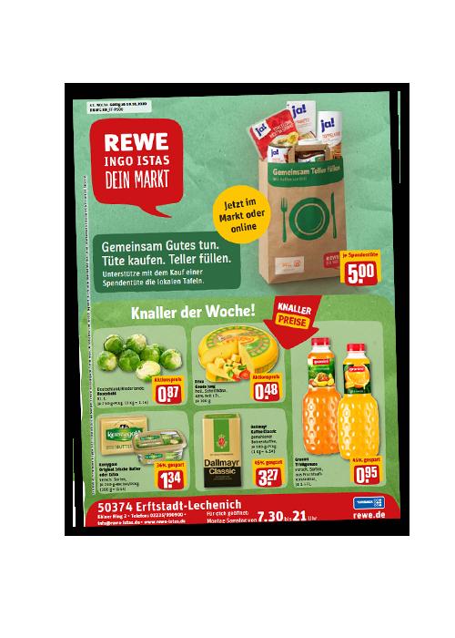 REWE Istas Handzettel Erftstadt-Lechenich KW 43/2020