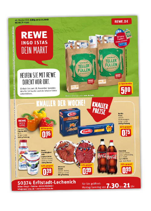 REWE Istas Handzettel Erftstadt-Lechenich KW 46/2018