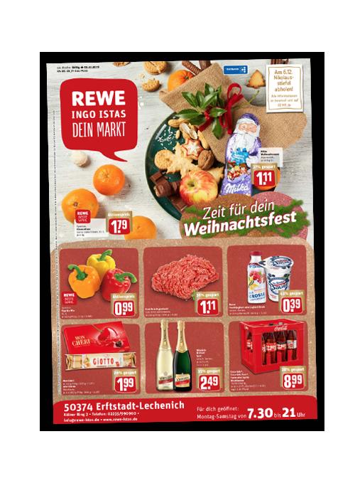 REWE Istas Handzettel Erftstadt-Lechenich KW 49/2019