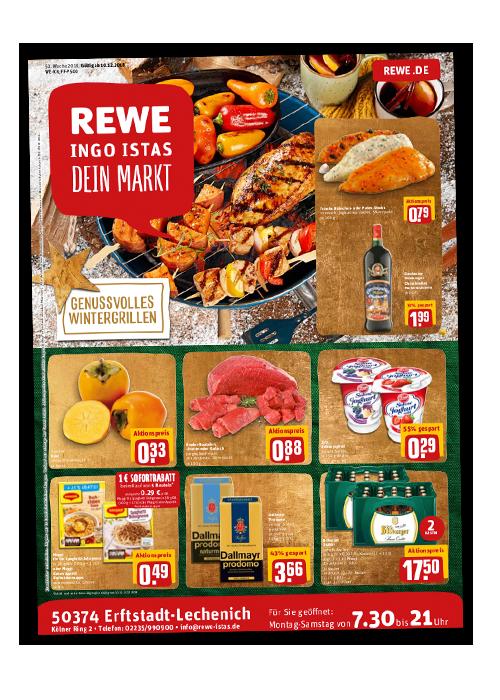 REWE Istas Handzettel Erftstadt-Lechenich KW 50/2018