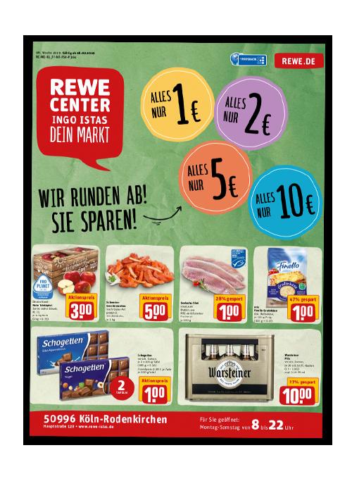 REWE Istas Handzettel Köln-Rodenkirchen KW 08/2019