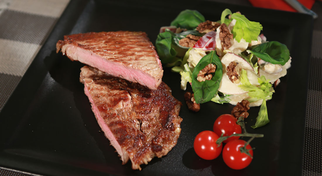 Rezept: Dry-Aged Rib Eye Steak Waldorf