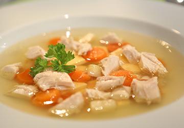 Rezept der Woche: Hühnersuppe mit Eierstich