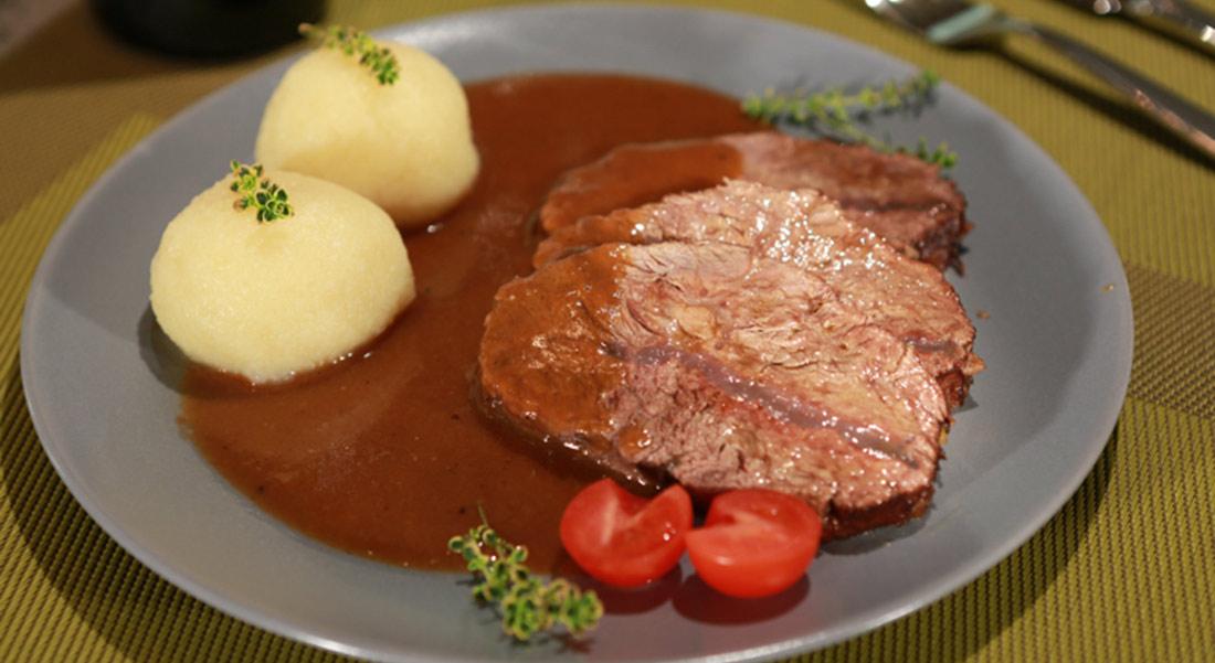Rezept: Rinderschulter in Rotwein-Marinade geschmort