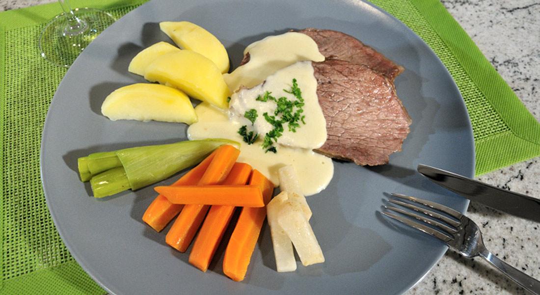 Rezept: Tafelspitz in Meerrettich-Sahne-Sauce