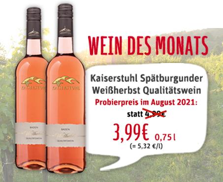 Wein des Monats August 2021