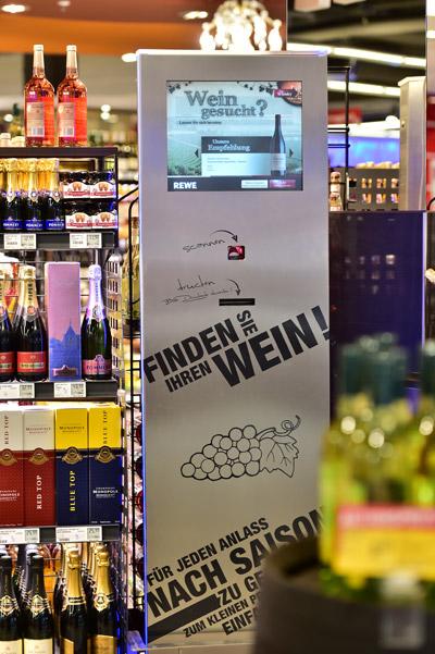 Wein finden mit dem Weinberater bei REWE Istas Köln